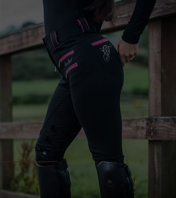 AIVER SPORT 4D Breeches, RASPBERRY